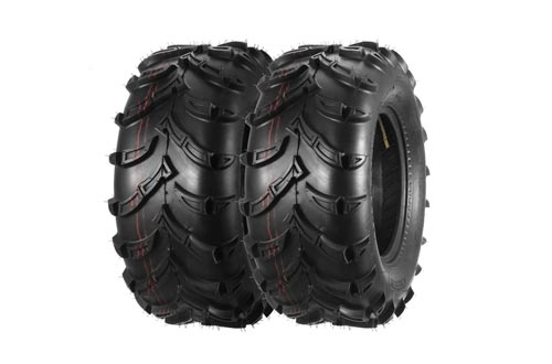 One Pair of MaxAuto ATV/UTV Rear Mud Tires 25x10-12 25x10x12 6PR Tubeless 50J