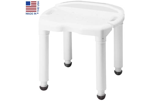 Carex Universal Bath Seat and Shower Chairs - With Support Up To 400 Pounds - Adjustable Height Shower Bench