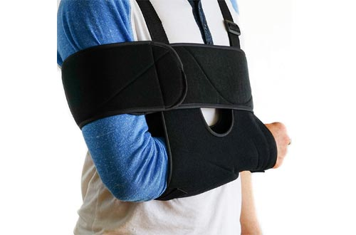 Medical Arm Slings Shoulder Brace - Best Fully Adjustable Rotator Cuff and Elbow Support