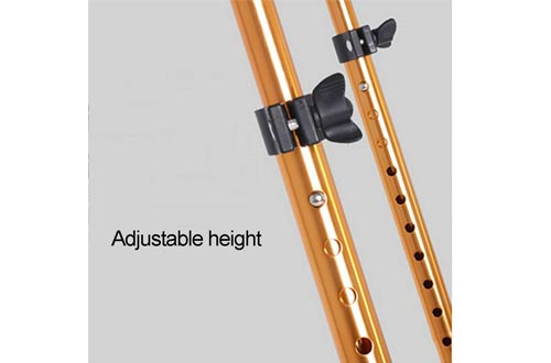 Canes, Aluminum, 300-lbs Capacity, Quad Base, Walking Stick for Men and Women, Lightweight Adjustable Staff, for Stability Support