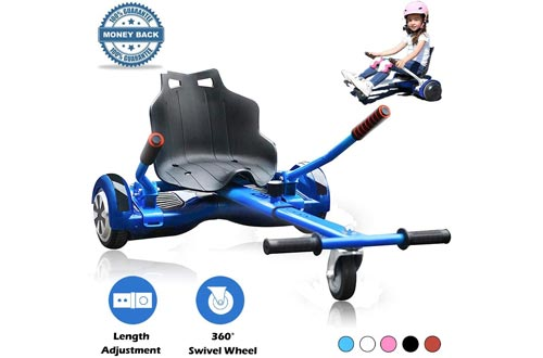 Hoverboard Kart, Hoverboard Seat Attachment Accessories for Self Balancing Scooter Go Karts Conversion Kit Hoverboard Cart Buggy Attachment Fits 6.5'' 8'' 10'' Adjustable for All Heights & Ages