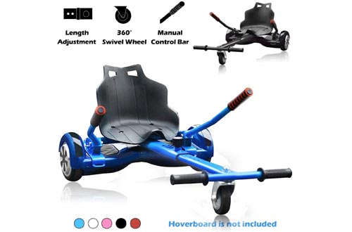 Go Karts Hoverboard Seat Attachment Accessories Hover Board Cart for All Ages Self Balancing Scooter Compatible with 6.5'' 8'' 10'' Adjustable Seat Frame