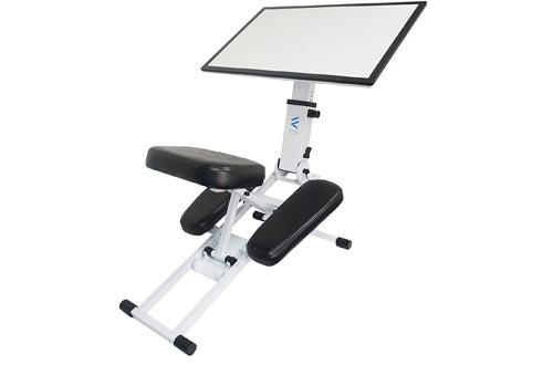 he Edge Desk Ergonomic Kneeling Chairs and Desk. Adjustable and Portable. Encourages Proper Upright Sitting, Reduces Fatigue and Pain