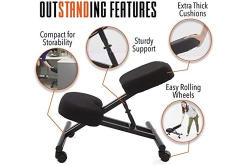 ProErgo Ergonomic Kneeling Chairs -Adjustable Height - Office Seating With an Edge! Perfect for Relieving Back and Neck Pain & Improving Posture - Great Fit
