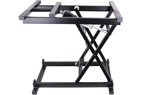 30'' Electric Hydraulic Wireless Remote Control Dining Table Coffee Tables Lift,Black,110V-240V,Working Platform Computer Desk Electronic Scissor Lift