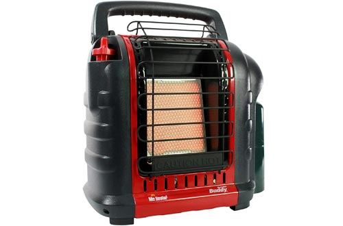 Mr. Heater F232000 MH9BX Buddy 4,000-9,000-BTU Indoor-Safe Portable Propane Radiant Heaters, Red-Black