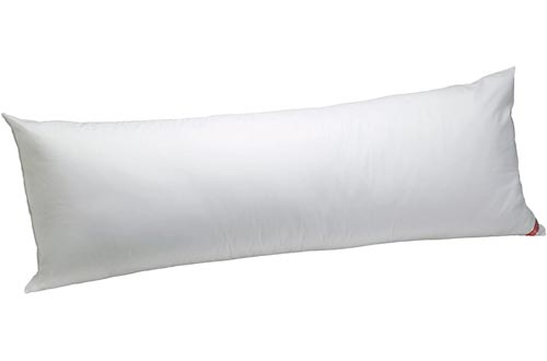 """AllerEase 100% Cotton Allergy Protection Medium Density Body Pillows - Breathable, Hypoallergenic Fiber Fill, Prevents Buildup of Dust Mites and Household Allergens, Allergist Recommended, 20"""" x 54"""""""