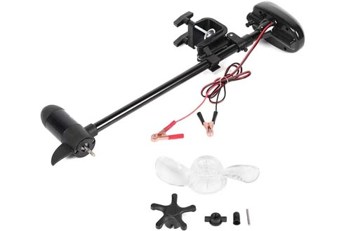 Trolling Motors 12V 18lbs Brushed Multi-Gear Electric Mount Trolling Motors with Propeller Salt Water for Inflatable Boat