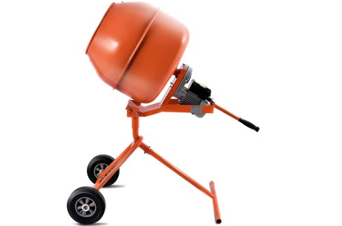 Electric Concrete Cement Mixers 1/2HP 5 cubic ft Barrow Machine for Mixing Mortar, Stucco, Seeds