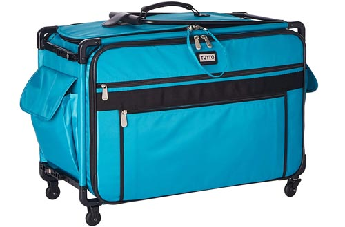 Tutto Monster Machine on Wheels Sewing Machine Cases, 2XL Turquoise