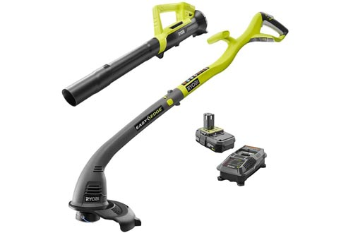 Ryobi One ONE+ 18-Volt Lithium-Ion String Trimmers/Edger and Blower Combo Kit 2.0 Ah Battery and Charger Included