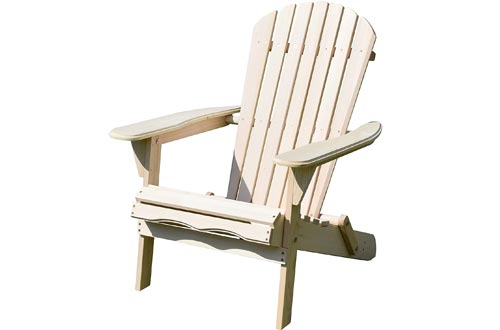 Merry Garden Foldable Wooden Adirondack Chairs, Outdoor, Garden, Lawn, Deck Chairs, Natural