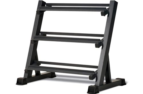 Marcy 3 Tier Metal Steel Home Workout Gym Dumbbell Weight Racks Storage Stand