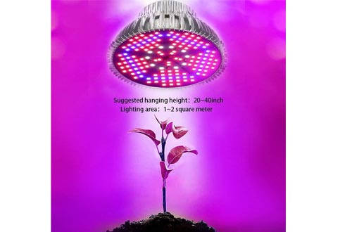 [Pack of 2]100W Led Plant Grow Light Bulbs, Full Spectrum 150 LEDs Indoor Plants Growing Light Bulbs Lamp for Vegetables Greenhouse and Hydroponic, E26 E27 Base Grow Light Bulbs, AC 85~265V