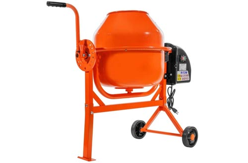 9TRADING Portable 2-1/5cuft Electric Concrete Cement Mixers Barrow Machine Mixing Mortar