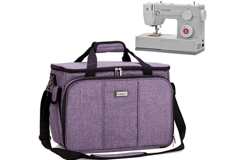 HOMEST Sewing Machine Carrying Cases with Multiple Storage Pockets, Universal Tote Bag with Shoulder Strap Compatible with Most Standard Singer, Brother, Janome, Lavender (Patent Design)