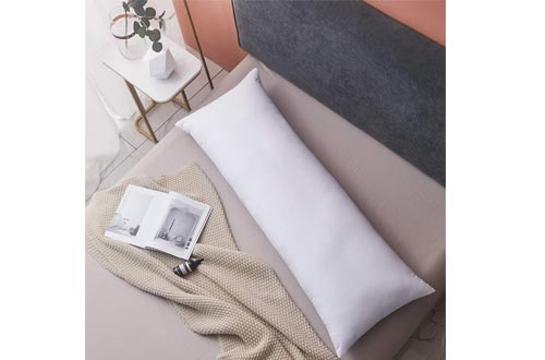 Yalamila Full Body Pillows for Adults-100% Polyester Body Pilllows Insert for Side Sleeper-Breathable White Long Pillows for Sleeping-20×54 inch