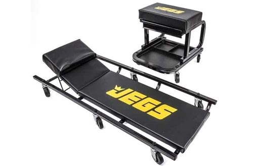 JEGS 81150 Creepers & Mechanic Seat Set