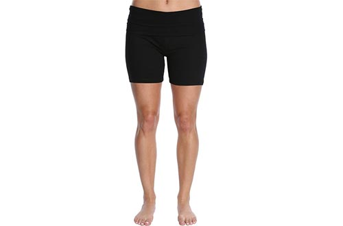 Blis Women's Yoga Workout Shorts with Foldover Color Waistband