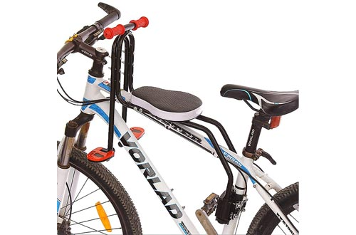 Child Bike seats, Front Mount Child Bicycle seats for Bicycle with guardrail armrest and Pedal arm and Pedal for Children from 3-6 Years
