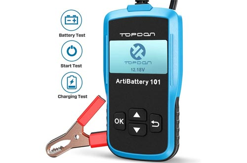 Car Battery Testers - 12v Car Auto Battery Load Testers on Cranking System and Charging System Scan Tool, TT Topdon AB101 100-2000 CCA Battery Testers Automotive for Cars/SUVs/Light Trucks