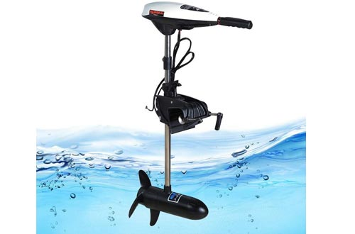 Electric Trolling Motors 12V 45LBS Outboard Trolling Motors Thrust Electric Fishing Inflatable Boat Motors Propeller Outboard Motors Engine (USA Stock)