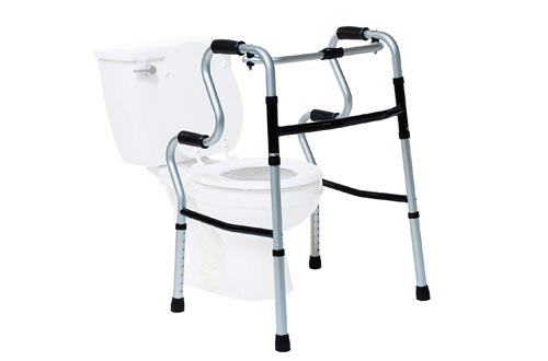 Lumex 3-in-1 UpRise - A Folding Walkers, Stand-Up Aid, Toilet Safety Rail - 700175CR