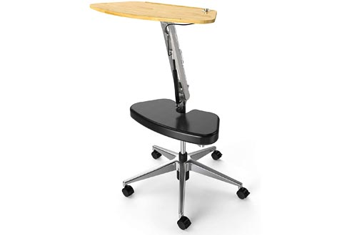 RoomyRoc Mobile Laptop Desk/Carts/Stand with Adjustable Tabletop and Footrest Computer Table (Black)