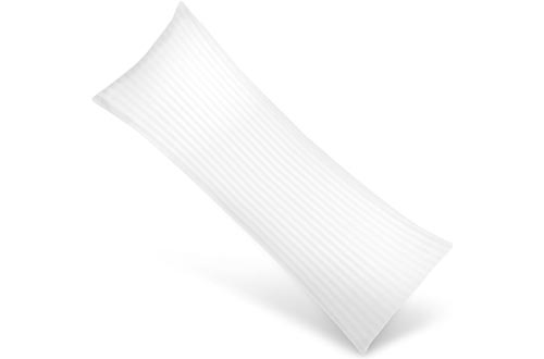 Utopia Bedding Soft Body Pillows - Long Side Sleeper Pillows for Use During Pregnancy - 100% Cotton Cover with Soft Polyester Filling (Single Pack)