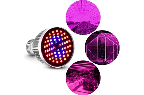 Full Spectrum E26 LED Grow Light Bulbs, 60W Grow Plant Light for Hydroponics Greenhouse Organic Indoor Plants, Grow Light Bulbs, Plant Light Bulbs