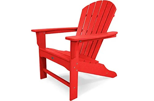 Trex Outdoor Furniture TXA15SR Yacht Club Shellback Adirondack Chairs, Sunset Red
