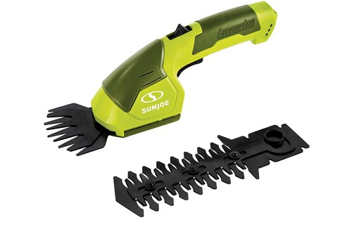 Sun Joe HJ605CC Cordless 2-in-1 Grass Shears + Hedge Trimmer w/Extension Pole