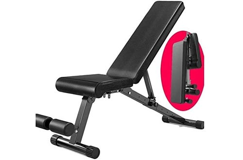 suge Adjustable Weight Benches Heavy Duty - Utility Weight Benches for Full Body Workout, Incline/Decline Benches Press for Home Gym