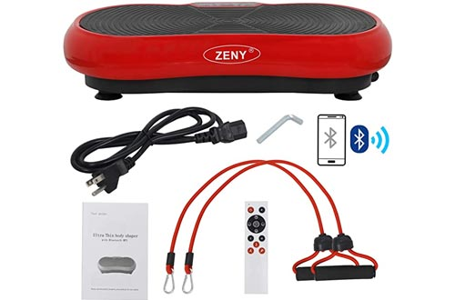 ZENY Fitness Vibration Plate Machines Vibrating Massager Whole Full Body Shaker Exercise Machines,Vibration Platform,Fit Massage Workout Trainer with Two Bands & Remote