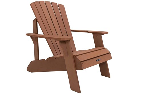 Lifetime Faux Wood Adirondack Chairs, Brown - 60064