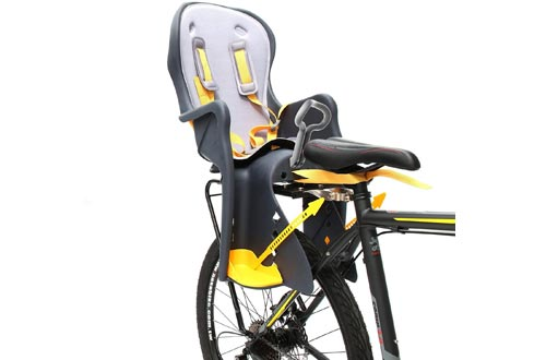 Bicycle Kids Child Children Toddler Rear Mount Baby Carrier Seats Bike Carrier USA Safety Standard with Handrail Racks
