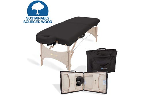 """EARTHLITE Portable Massage Tables HARMONY DX – Foldable Physiotherapy/Treatment/Stretching Tables, Eco-Friendly Design, Hard Maple, Superior Comfort incl. Face Cradle & Carry Case (30"""" x 73"""")"""