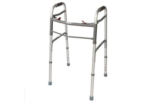 Folding Walkers. 2 Button NO/Wheels. Great for Adults & Seniors.