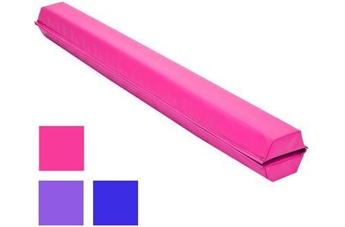 Best Choice Products 9ft Folding Medium-Density Foam Floor Balance Beams for Gymnastic and Tumbling