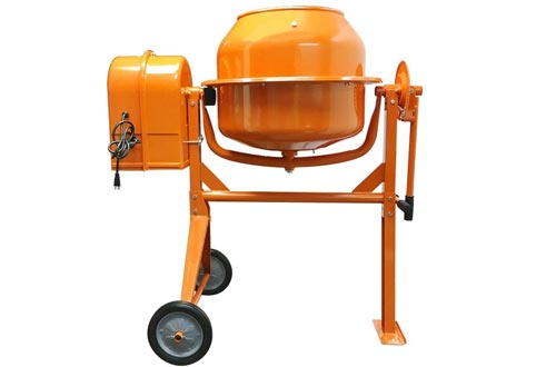 PROLINEMAX HD Portable Electric 3-1/2 Cubic Feet Steel Stucco Concrete Cement Mixers Contractor Mortar