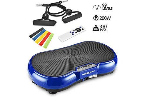 Vibration Platform Exercise Machines, Whole Body Vibration Fitness Plate with Remote Control and Resistance Bands for Weight Loss Toning
