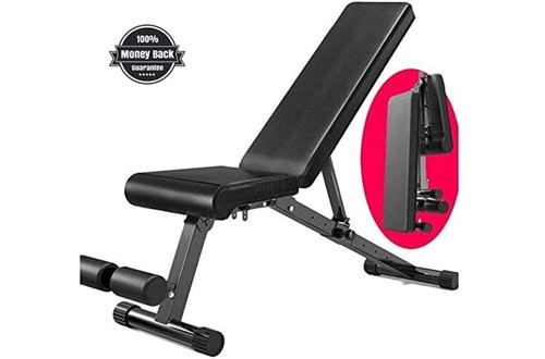 Weight Bench Adjustable Heavy Duty - Utility Weight Benches for Full Body Workout, Incline/Decline Benches Press for Home Gym