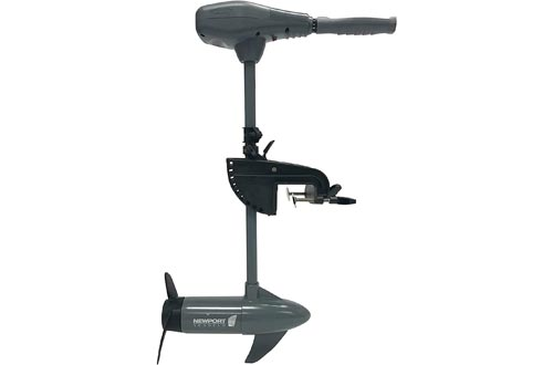 "Newport Vessels Kayak Series 36lb/55lb Thrust Transom Mounted Saltwater Electric Trolling Motors w/LED Battery Indicator (24"" Shaft)"