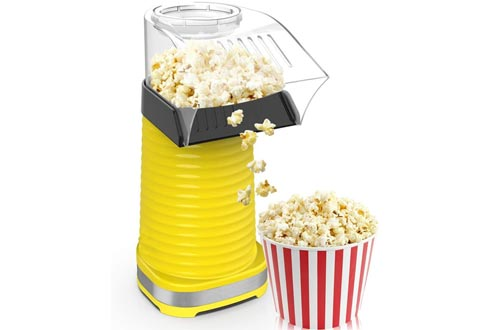 Fast Hot Air Popcorn Poppers With Top Cover,Electric Popcorn Maker Machine,Healthy & Delicious Snack For Family Gathering,Easy To Clean,ETL Certified,Safe