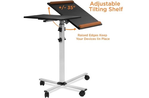 Mount-It! Rolling Laptop Tray and Projector Carts, Height Adjustable Presentation Carts with Wheels (MI-7945)