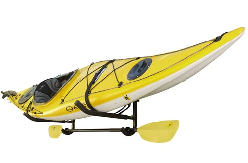 Sparehand Single Kayak/SUP Foldable Wall-Mount Storage Racks with Paddle Holder and Safety Strap