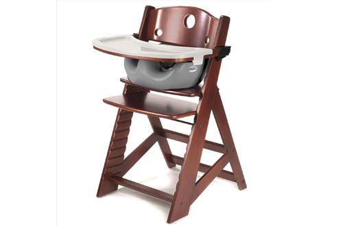 Height Right HIGH Chairs Mahogany with Grey Infant Insert and Tray