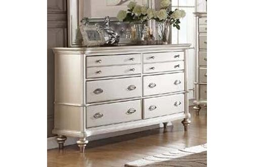 Poundex Liliana Antique Silver Wood Dressers