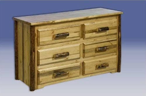 Montana Woodworks Dressers - 6 Drawer Glacier Country Collection