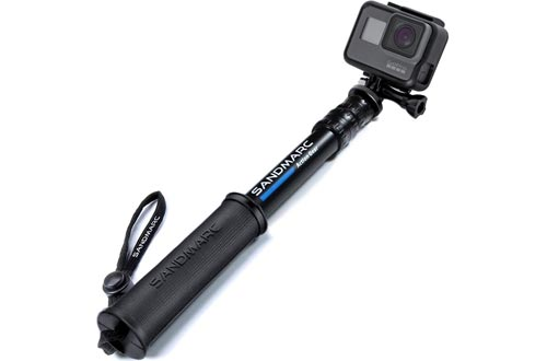 """SANDMARC Pole - Compact Edition: 10-25"""" Waterproof Pole (Selfie Sticks) for GoPro Hero 8, Max, 7, 6, Fusion, Hero 5, 4, Session, 3+, 3, 2, HD & Osmo Action"""